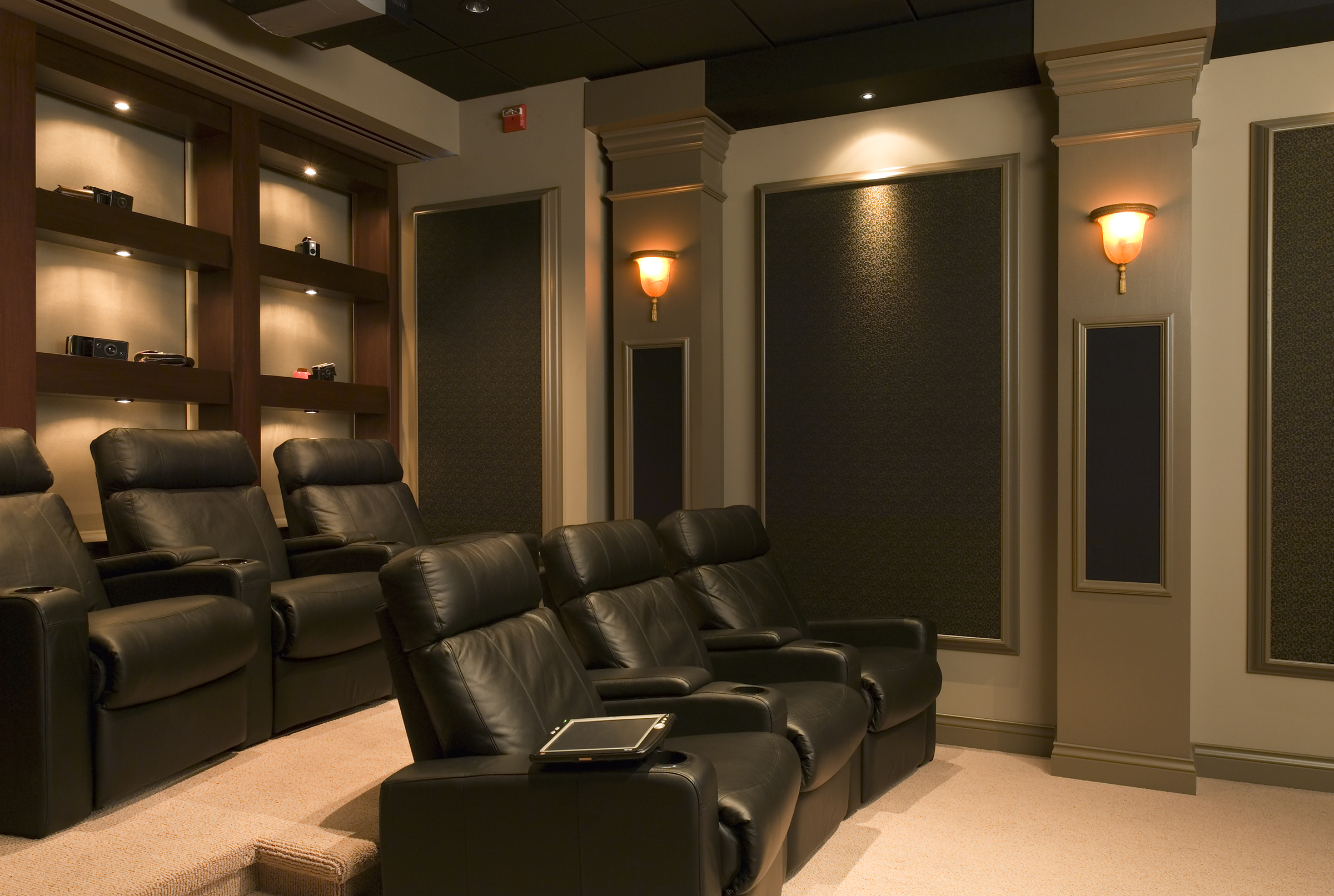 5 unique home theater rooms automated lifestyles. Black Bedroom Furniture Sets. Home Design Ideas